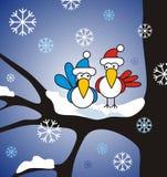 De vogels van de winter royalty-vrije illustratie