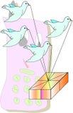 De vogels van het beeldverhaal Stock Foto