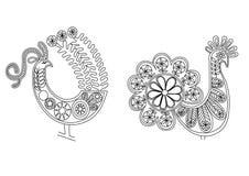 De vogels van het kant Royalty-vrije Stock Afbeeldingen