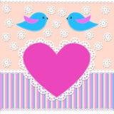 De vogels van het plakboek stock illustratie