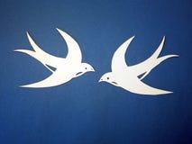 De vogels van Martin die van document worden gesneden. Stock Foto