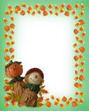 De Vogelverschrikker van de Pompoen van de Grens van Halloween Stock Foto's