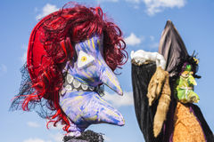 De vogelverschrikkers bij jaarlijks vogelverschrikkerfestival, Mahone-Baai, kunnen Royalty-vrije Stock Fotografie