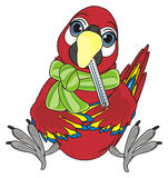 De vogelzieken en zitten Royalty-vrije Stock Foto
