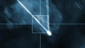 De volgende kaart van de onderzoekswereld stock videobeelden