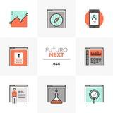 De Volgende Pictogrammen van Futuro van het Webbeleid royalty-vrije illustratie