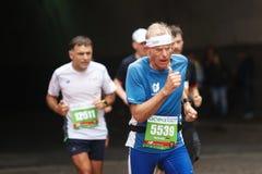 De volharding van de marathonatleet Royalty-vrije Stock Foto