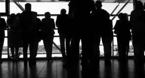 De volkeren van het silhouet Royalty-vrije Stock Fotografie