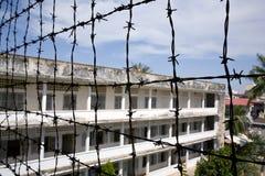 De Volkerenmoordmuseum van Tuolsleng, Phnom Penh royalty-vrije stock foto