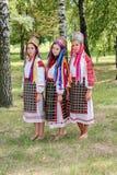 De volksrituelen brengen verbeteringen in het Gomel-gebied van de Republiek Wit-Rusland in 2015 op royalty-vrije stock foto