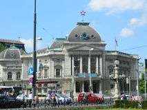 De Volkstheater historische bouw, Wenen, Oostenrijk Stock Afbeelding