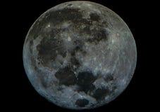 De volle maan kijkt als een steen stock afbeeldingen