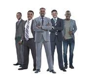 In de volledige groei leider die zich voor zijn commercieel team bevinden royalty-vrije stock afbeeldingen