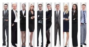 In de volledige groei moderne succesvolle bedrijfsmensen stock afbeelding