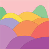 De volledige Heuvels van de Kleur Stock Afbeeldingen