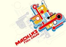 De volledige kleur van de machine Stock Foto's