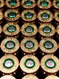 De volledige Kogels van het metaaljasje in een doos stock afbeelding