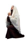 De volledige lengte van Jesus Christ in knie Stock Foto's