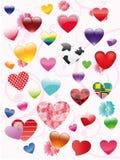 De volledige reeks harten Stock Afbeelding