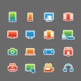 De volledige reeks van het het symboolpictogram van het kleurenapparaat Royalty-vrije Stock Foto's