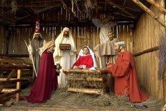 De volledige Scène van de Geboorte van Christus Stock Afbeeldingen