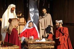 De volledige Scène van de Geboorte van Christus Stock Foto's