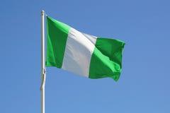 De volledige vlag van Nigeria stock fotografie