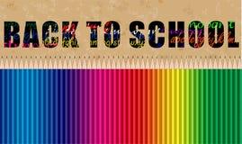 De volta à bandeira de escola Fotografia de Stock