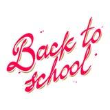 De volta à caligrafia do vetor das cores da escola dois Fotos de Stock Royalty Free
