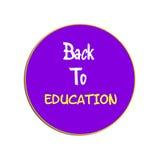 De volta à educação de volta à etiqueta da ilustração das escolas Imagens de Stock