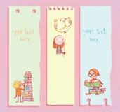 De volta à escola, ícones, ilustração do vetor Foto de Stock