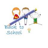 De volta à escola Fotos de Stock Royalty Free