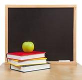 De volta à escola. A administração da escola e livros isolados Fotos de Stock