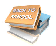 De volta à escola/amarelo alaranjado e a grande light-blue Ilustração do Vetor