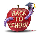 De volta à escola Apple Imagens de Stock Royalty Free