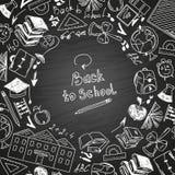 De volta à escola, assuntos de escola do desenho a mão livre Imagem de Stock
