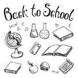 De volta à escola Assuntos de escola sobre em um fundo branco Foto de Stock Royalty Free