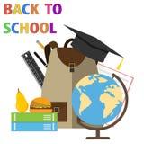 De volta à escola Bandeira de volta à escola O começo da escola Foto de Stock