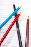 De volta à escola Colora lápis stationery Caderno Fotografia de Stock