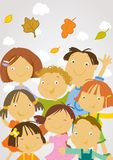 De volta à escola - crianças felizes ilustração do vetor