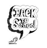 De volta à escola e ao aluno bonito ilustração royalty free
