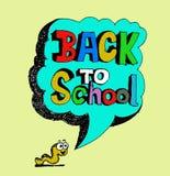 De volta à escola e ao aluno bonito ilustração stock