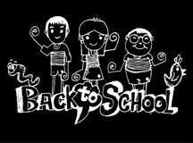 De volta à escola e ao aluno bonito ilustração do vetor
