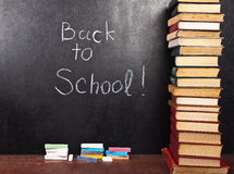 De volta à escola escrita no quadro Fotografia de Stock Royalty Free