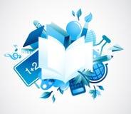 De volta à escola - fundo azul Fotos de Stock
