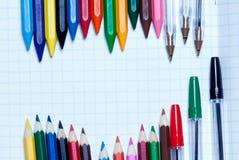 De volta à escola Fundo lápis na imagens de stock royalty free