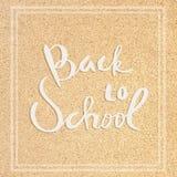 De volta à escola Inscrição na placa fotos de stock royalty free