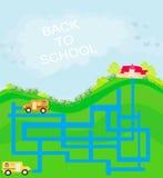 De volta à escola - labirinto Fotografia de Stock Royalty Free