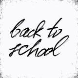 De volta à escola Molde da cópia da tipografia e da rotulação Projeto gráfico para de volta ao cartaz da escola, anunciando ilustração do vetor