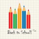 De volta à escola! - molde engraçado da inscrição no tipo fundo da matemática Fotografia de Stock Royalty Free